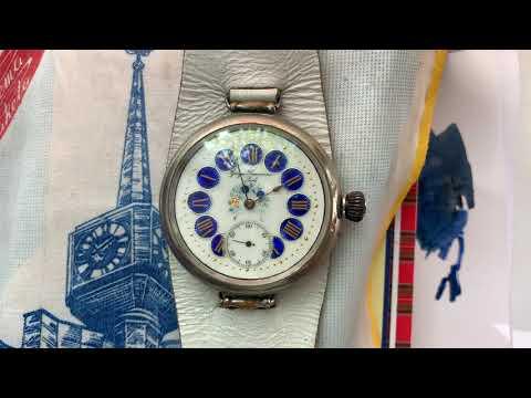 Видеообзор на старинные повседневные часы Georges Ducommun (ранняя Doxa)