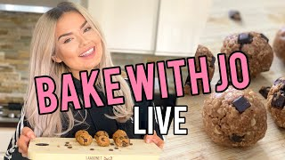 BAKE WITH JO LIVE: 3 Ingredient Energy Balls!