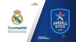 EuroLeague 32. Hafta: Real Madrid - Anadolu Efes