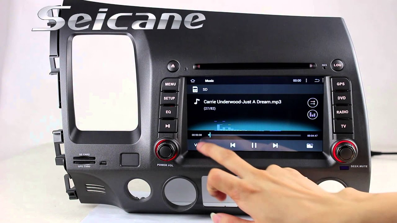 2006 2007 Honda Civic Dvd Player Navigation Head Unit Support App Download  Steering Wheel Control