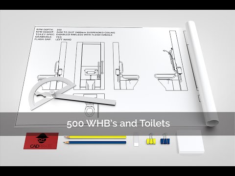 RPM Toilets , Sinks And Shower 2D CAD Block Collection