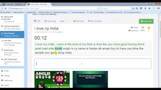 10FastFingers Text Practice  (i love ny india ) - 91 WPM with 100% Accuracy
