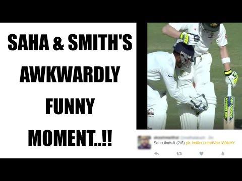 Wriddhiman Saha & Steve Smith tumble on field, end up in awkward position | Oneindia News