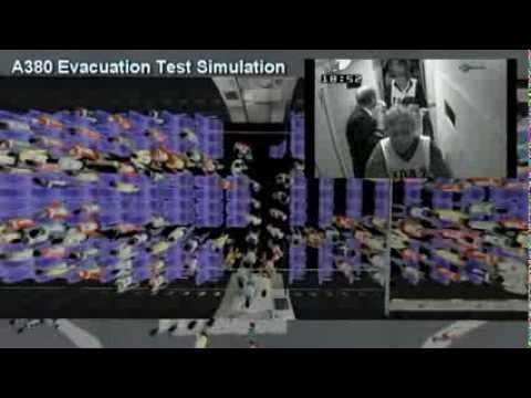 Airbus A380 Evacuation Test Simulation