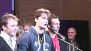 Стиляги - актерская группа на презентации фильма