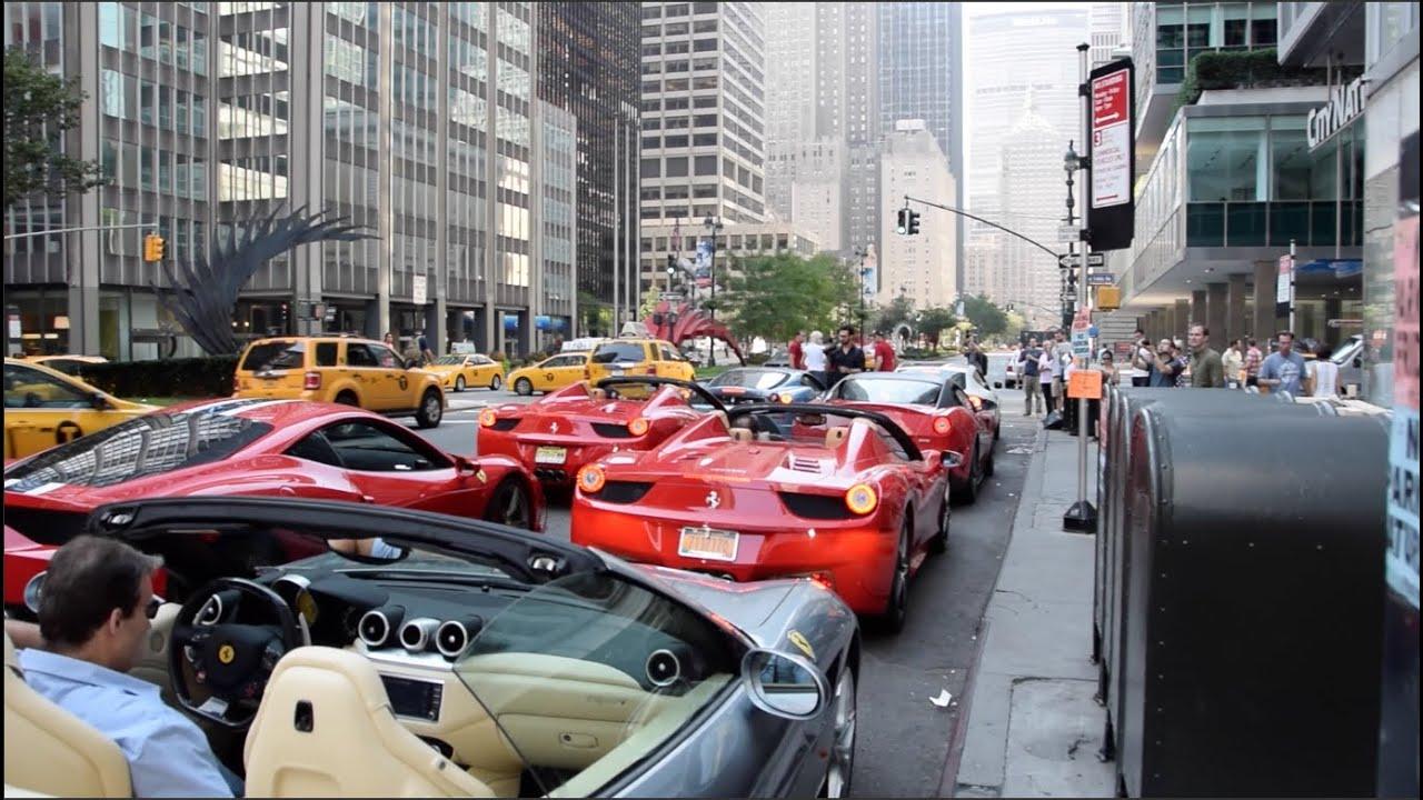 Ferrari New York End Of Summer Rally 2015 Youtube