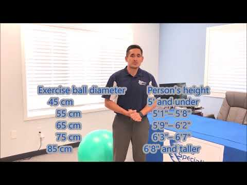 Choosing the right size exercise ball