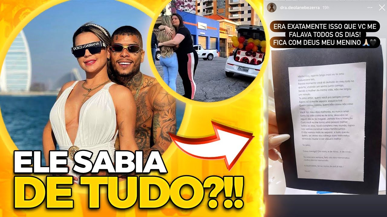 😱DE ARREPIAR: MC KEVIN DEIXOU CARTA PEDINDO DESCULPA PARA DEOLANE BEZERRA, SUA MULHER??!