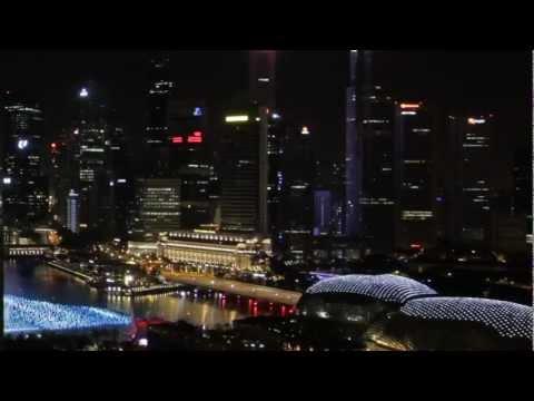Marina Bay Sands Skypark BASE Jump - Singapore 2012