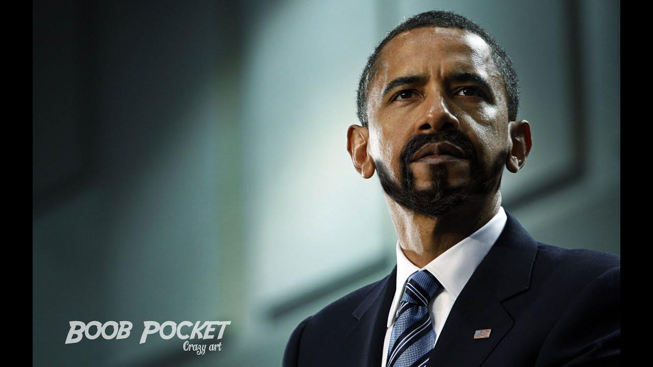 Obama facial hair