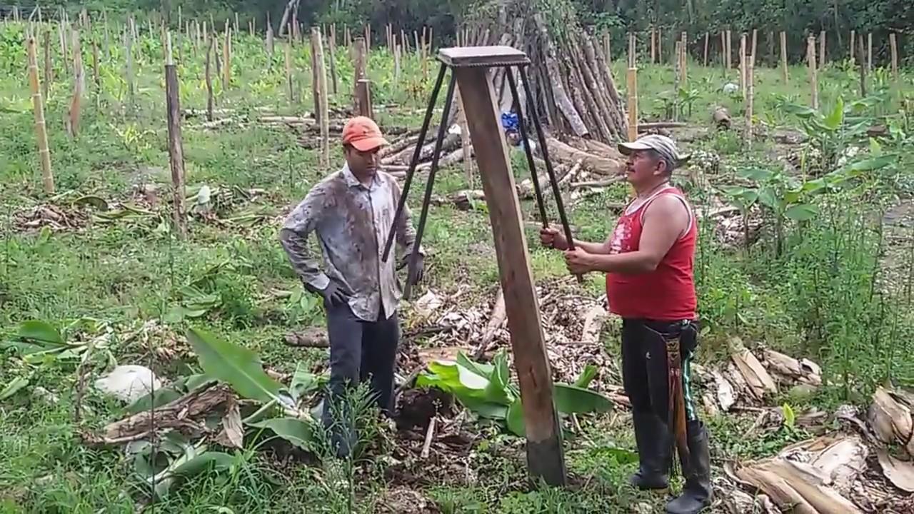 Como enterrar postes de madera sin hacer huecos f cil - Postes de madera ...