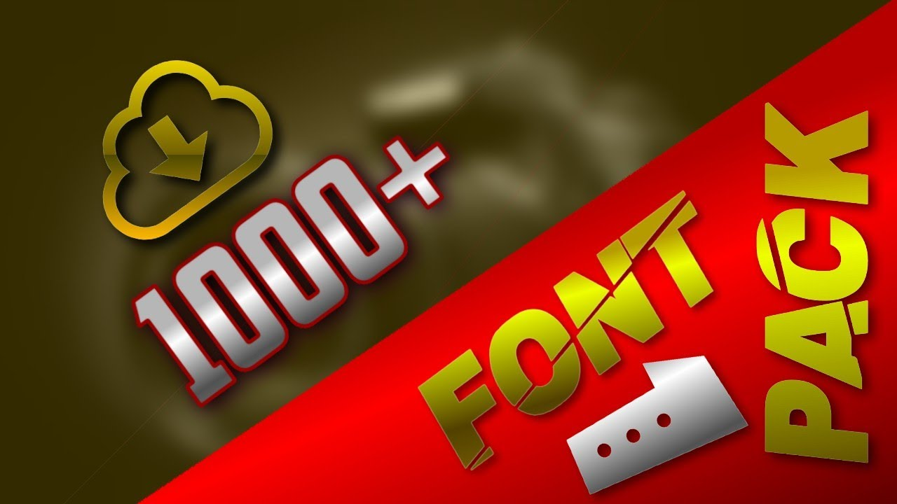 Download 1000+ Fonts Pack | 1000+ Free ttf Fonts Pack With Download ...