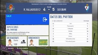 Jornada 12. Valladolid vs Eibar . Unal vs Charles