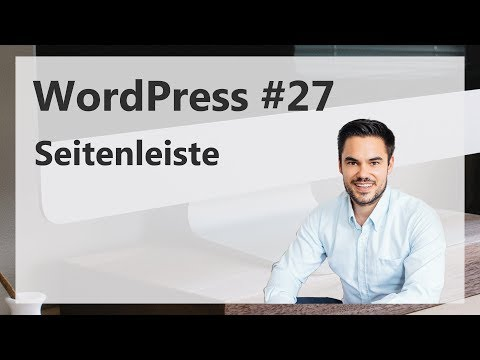 WordPress Seitenleiste erstellen und gestalten [Deutsch/German]
