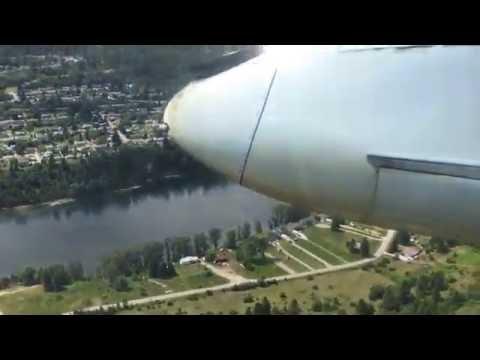 Air Canada Jazz Dash 8 landing in Castlegar CYCG Airport - LEFT SIDE