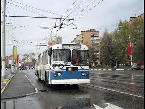 Поездка на Химкинском троллейбусе ЗиУ-682Г-016 [Г0М] №0016 №1 Аллея Героев-Улица Дружбы
