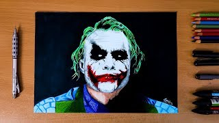 The Dark Knight : The Joker ( Heath Ledger ) - Speed drawing
