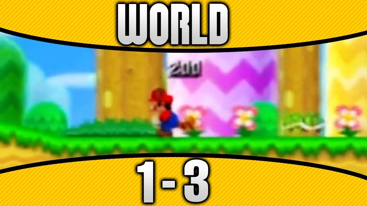 New Super Mario Bros  2 - World 1-3 100% All Star Coins