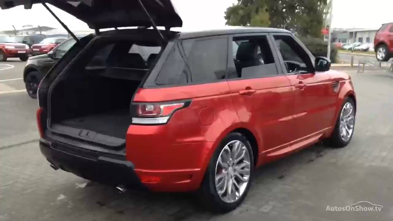 land rover range rover sport sdv6 autobiography dynamic red 2015 youtube. Black Bedroom Furniture Sets. Home Design Ideas