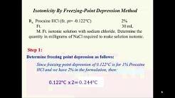 Freezing Point Depression Method