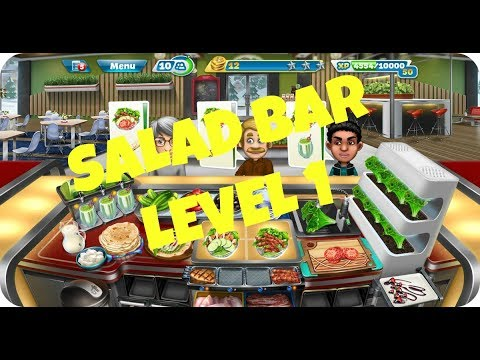 COOKING FEVER: ALPINE REOSRT | SALAD BAR | LEVEL 1