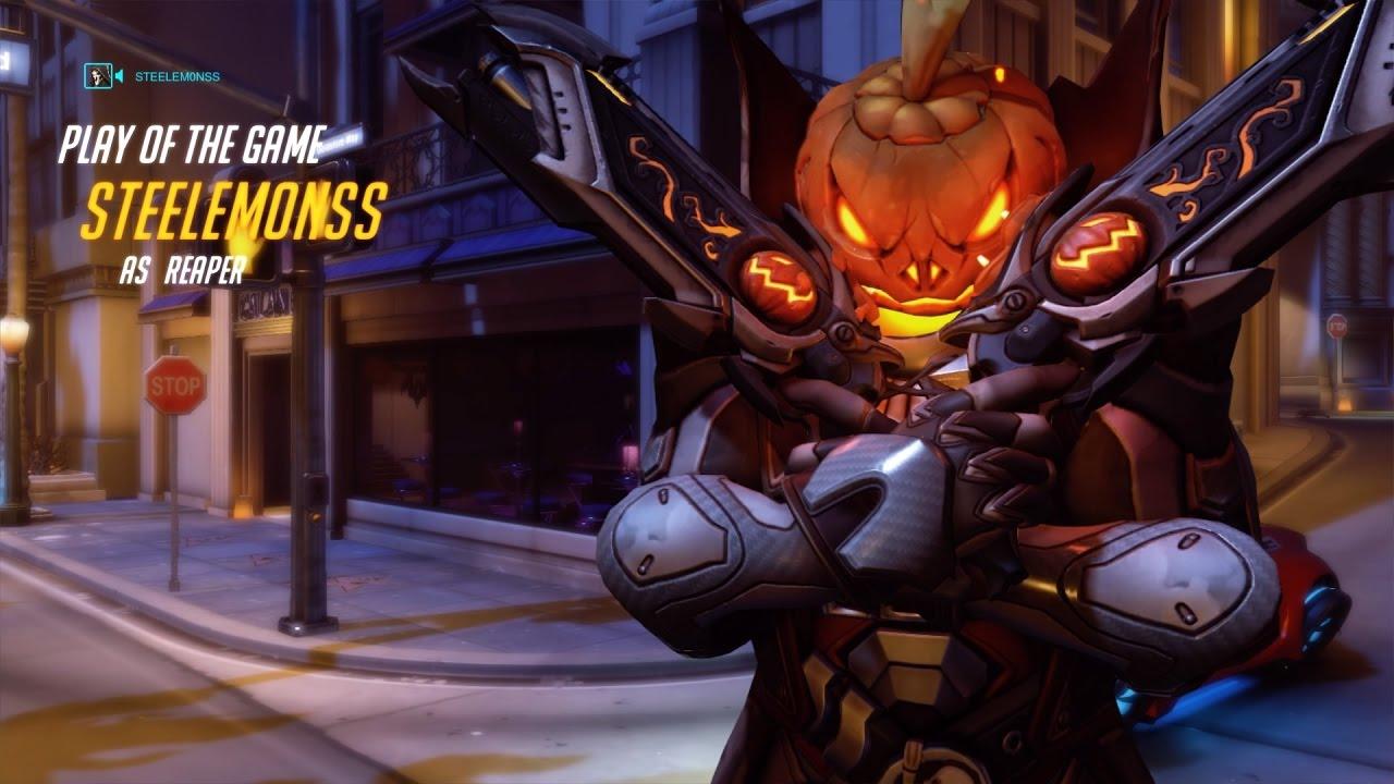 Epic Reaper Overwatch Gameplay w/ Halloween Skin! - YouTube