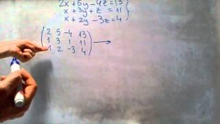 Cómo escalonar una matriz mediante las operaciones elementales por filas de Gauss