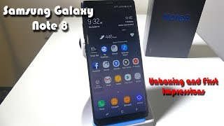 Samsung  Galaxy Note 8 - Unboxing and First Impressions