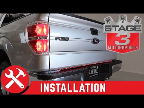 Recon Lighting LED Tailgate Light Bar installed on F150 (26416)