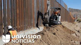 ¿se esta realmente construyendo el muro de trump?
