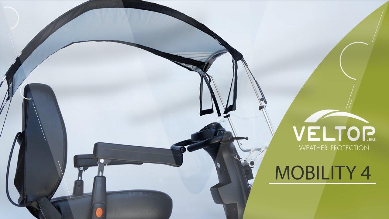 veltop mobility  electric scooter rain  sun