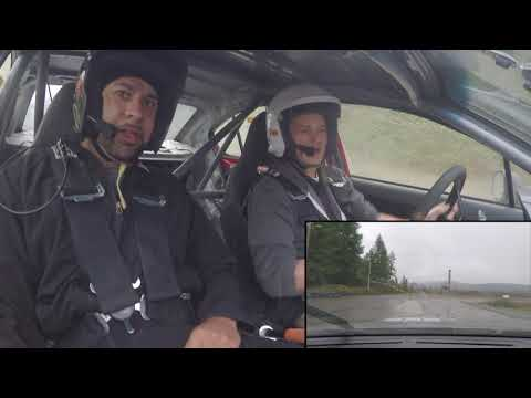 HANK BASKETT takes ride in a RALLY car (reaction)