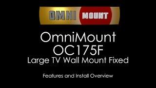 OmniMount OC175F Large Fixed TV Wall Mount