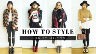 How to Style Skinny Jeans + LOOK BOOK