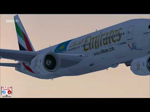 FSX Full flight from Dubai to Dublin with Boeing 777 Emirates