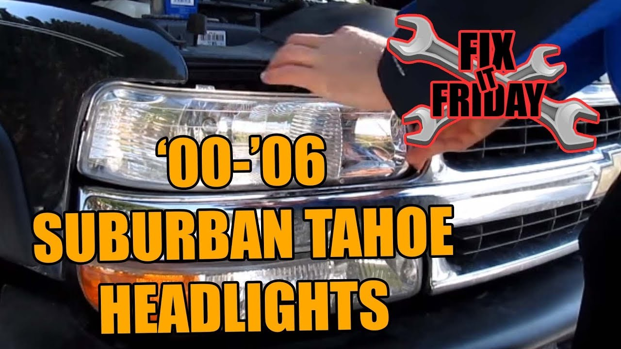 Suburban Tahoe Head Light Bulb Change 2000 2006gmc Chevrolet 03 Chevy 1500 Headlight Wiring
