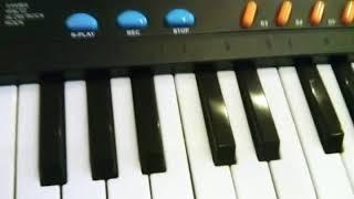Урок для начинающих на синтезаторе))) отрывок из собачьего вальса