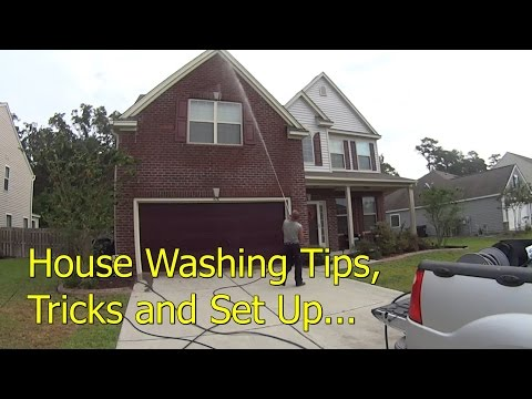 How To Pressure Wash a Vinyl House - Set Up and Demonstration Video