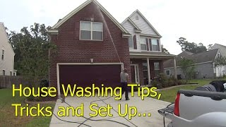 How To Pressure Wash a Vinyl House - Set Up and Soft Wash Demonstration