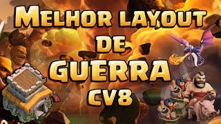 MELHOR LAYOUT DE GUERRA CV8 + REPLAYS Anti Dragão+Anti Corredor+Anti Gowipe