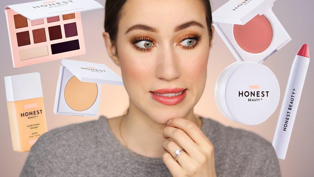 I Finally Tried Honest Beauty Makeup Youtube