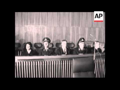 CAN903 NAZIS SENTENCED FOR MURDER OF DUTCH JEWS