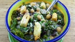 Sexy and Savory Two Bean Kale Soup Recipe August Cooking  Vegetarian  Vegan Option  How to Cook