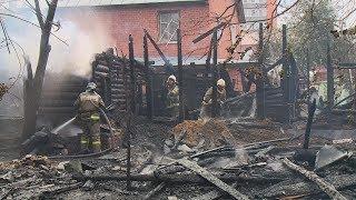 В Пензе дотла сгорел дом: есть погибший