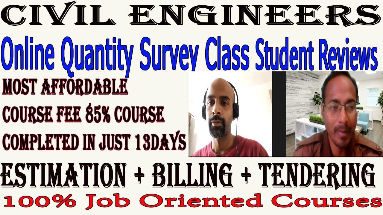 Online Quantity Survey Short Term Training Maharashtra Student I Civil Engineers Training Institute