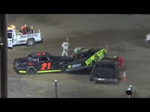Street Stock Heat Race #1 at Crystal Motor Speedway, Michigan on 09-04-16.