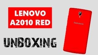 Мега дешевый красный смартфон от Lenovo A2010 Red Распаковка | Unboxing Smartphone Леново