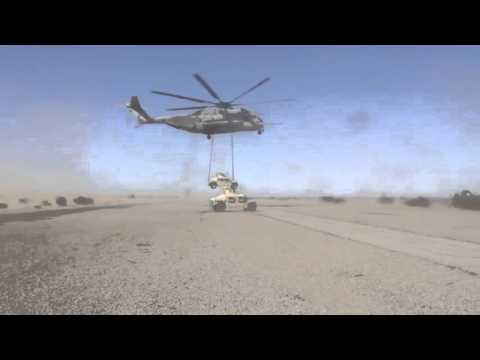 The Biggest US Helicopter Show its Muscles: CH 53E Super Stallion Lifting 14 tons APC !