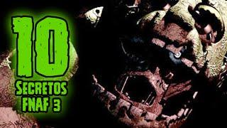 TOP 10: 10 Secretos De Five Nights At Freddys 3 Que Tu No Sabias | FNAF 3