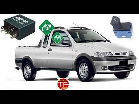 c176b1d48ed Módulo de vidro elétrico original do Fiat Palio e Strada 2002 - YouTube